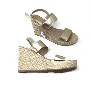 🆕 GOLD WEDGE SANDALS